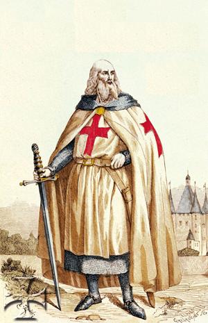 Ordre des Templiers : Jacques de Molay dernier grand maître des Templiers.