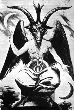 Ordre des Templiers : Représentation du Baphomet.